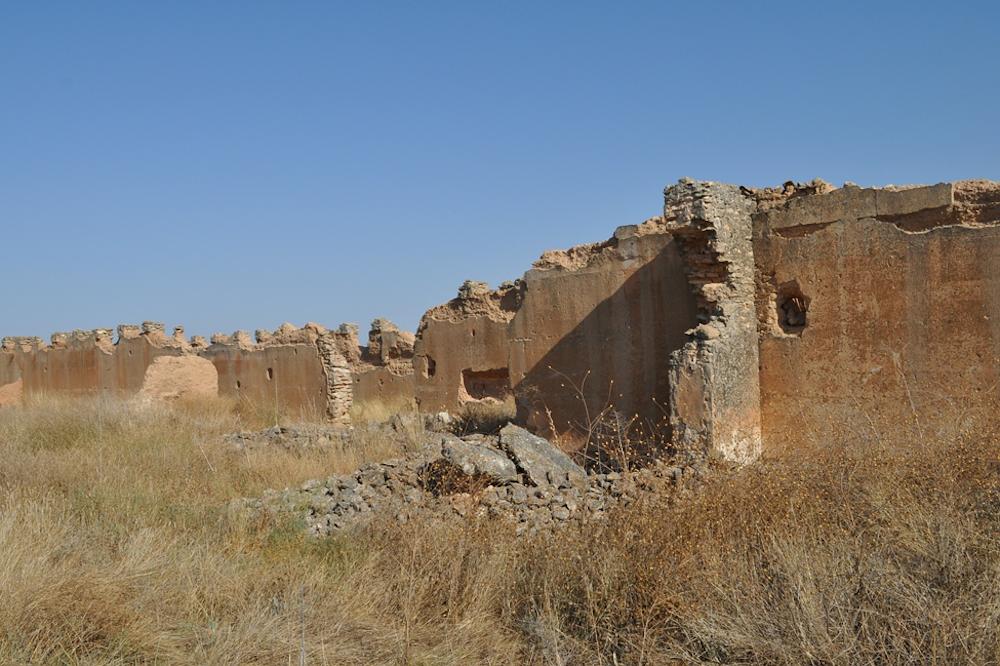 rammed earth ruin