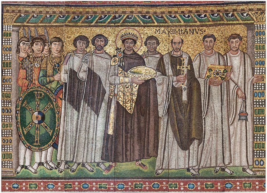 Mosaic image of Justinian