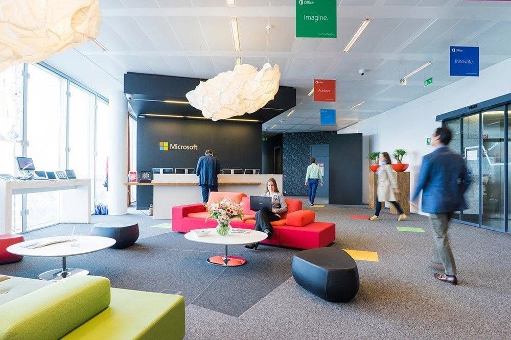 Microsoft's office interior