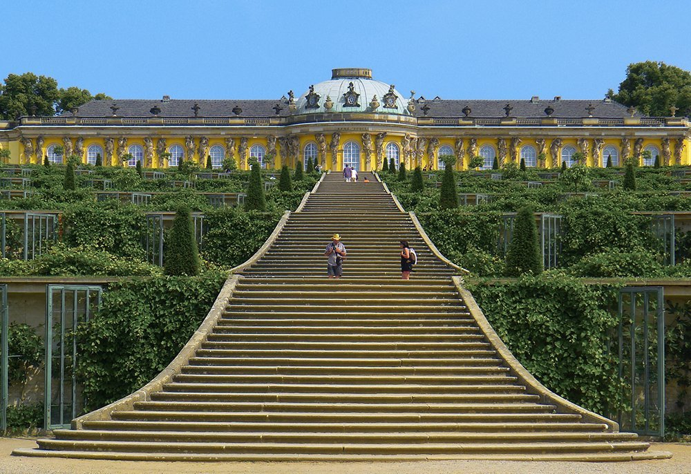 the castle garden of Potsdam-Sanssouci