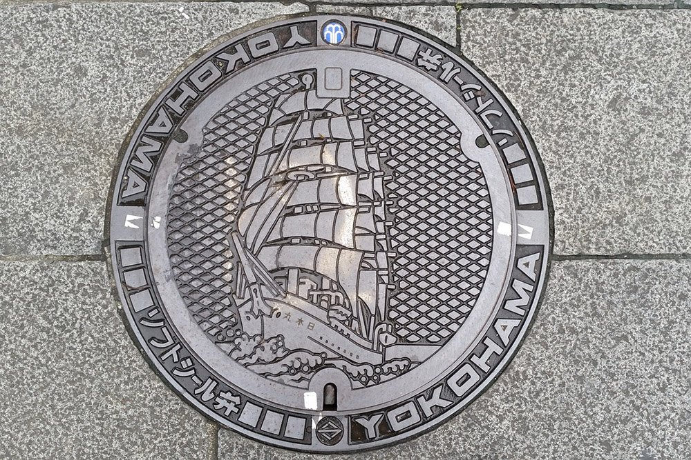 decorated manhole cover