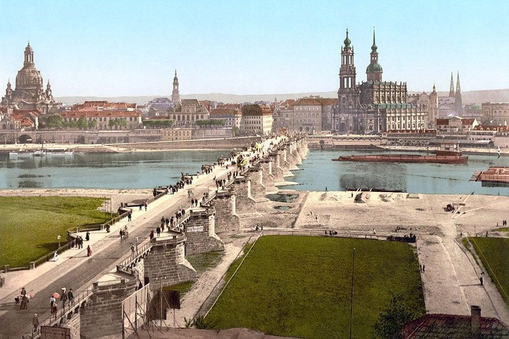 urban landscape of Dresden Germany