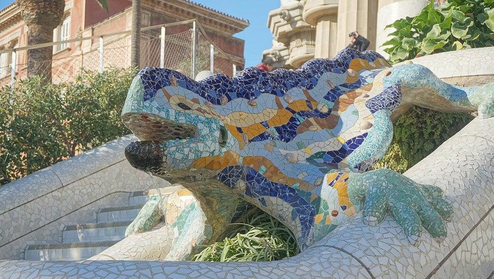 lizard in Park Guell Barcelona