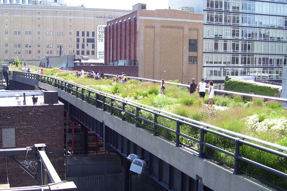High Line Linear Park in NYC