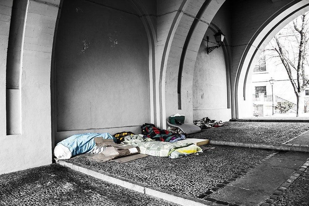 housing under bridge