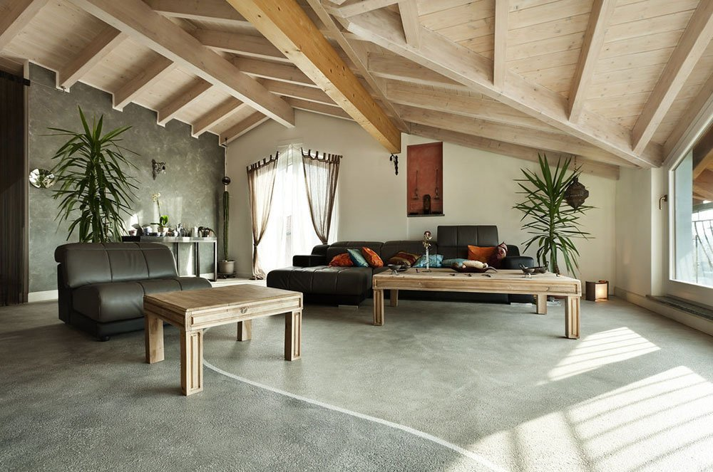 textured wood and walls in home