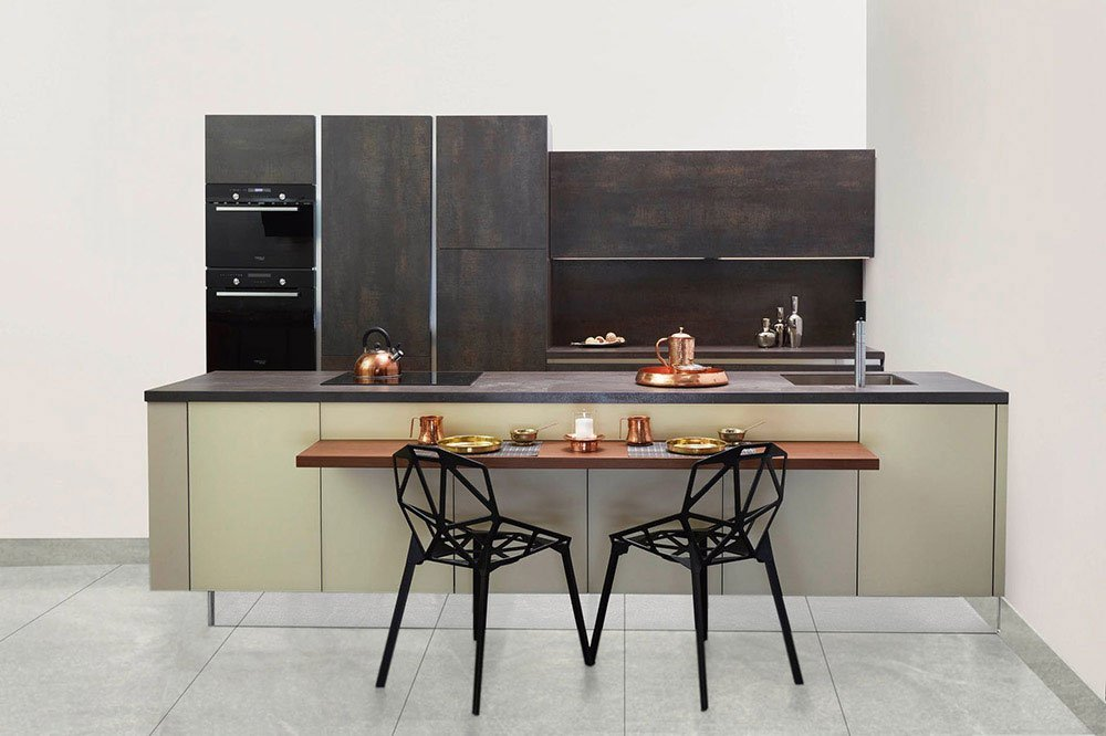 kitchen with built in oven and induction cooker