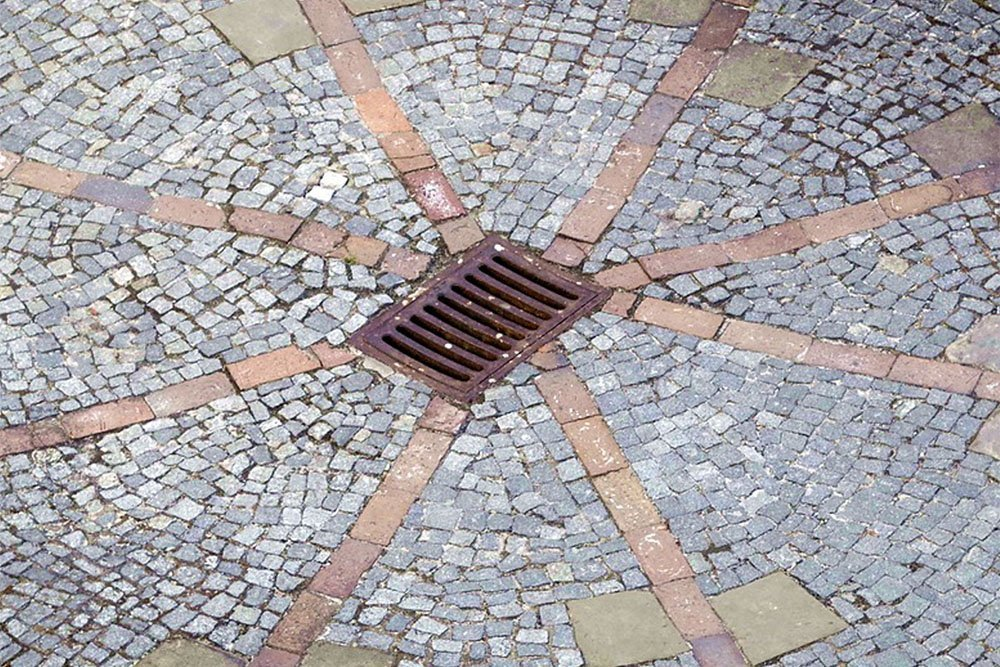 drain with stone bricks