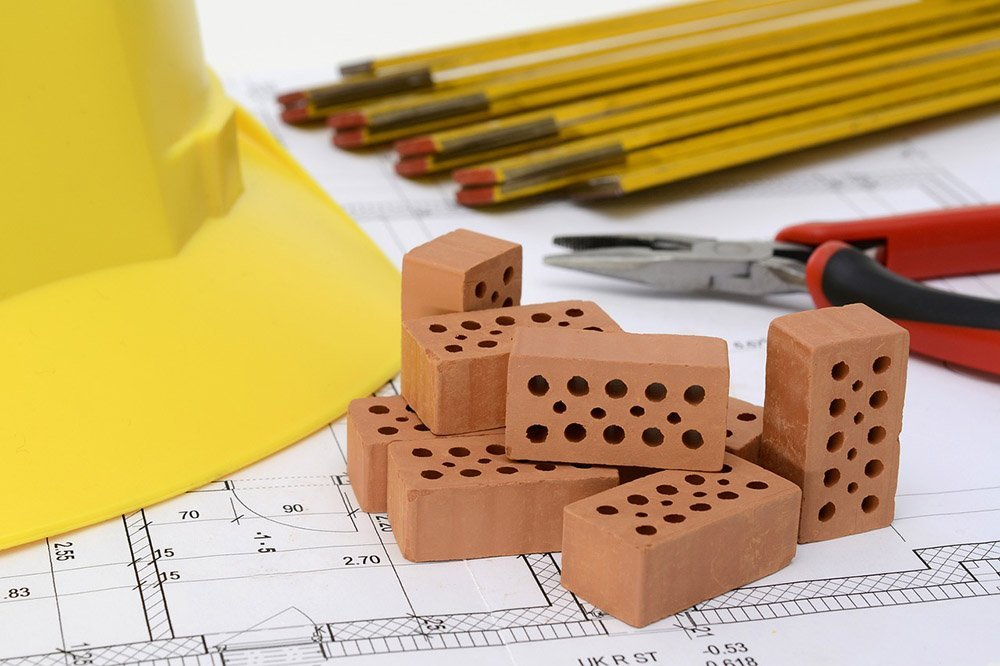 bricks on table
