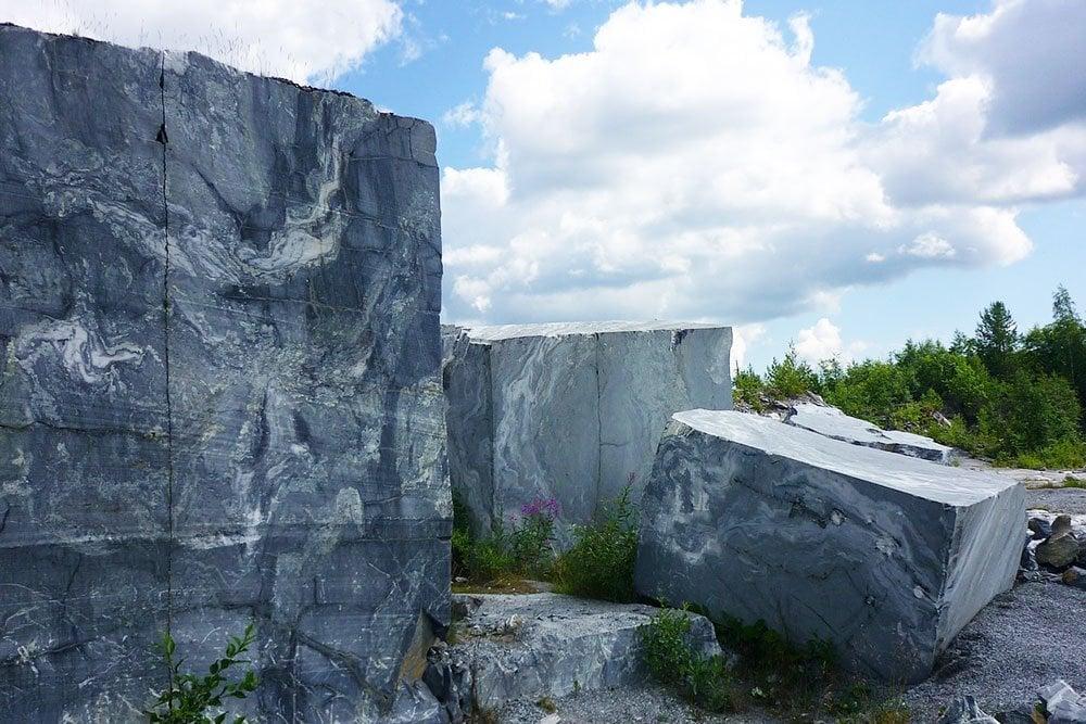 quarried blocks of marble