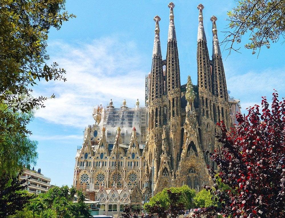 The Church of Sagrada Familia Barcelona