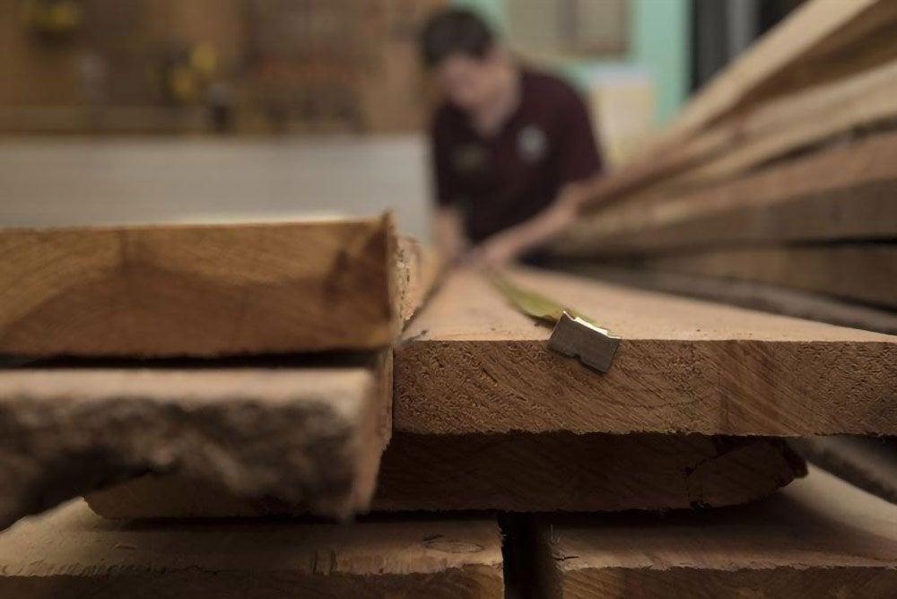 wood plank closeup