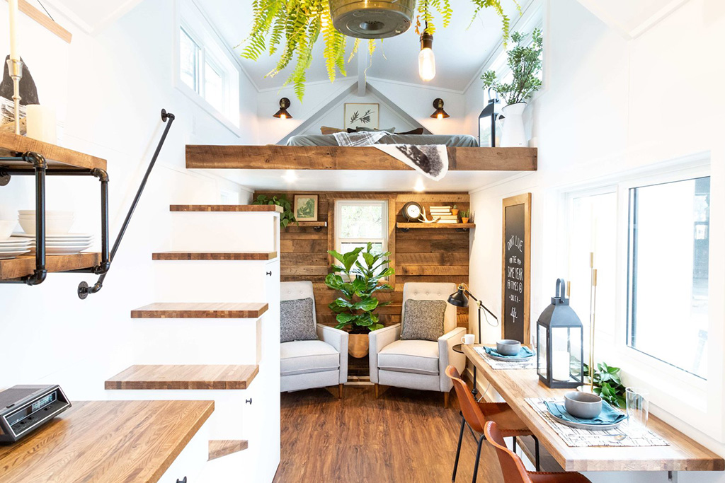 shared living space in tiny home