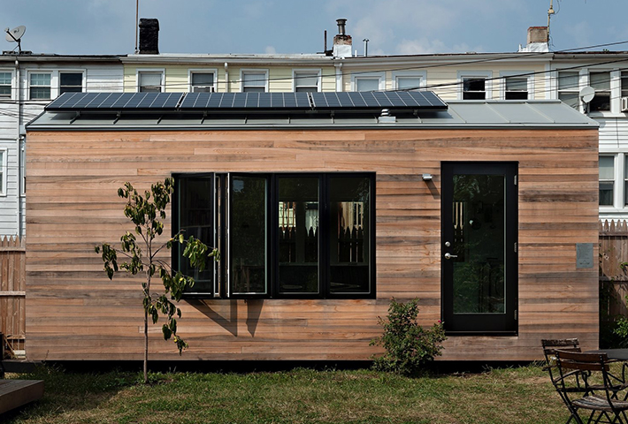 tiny home with solar panel